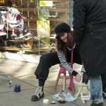Comedy Schuhputzerin WalkingAct 08